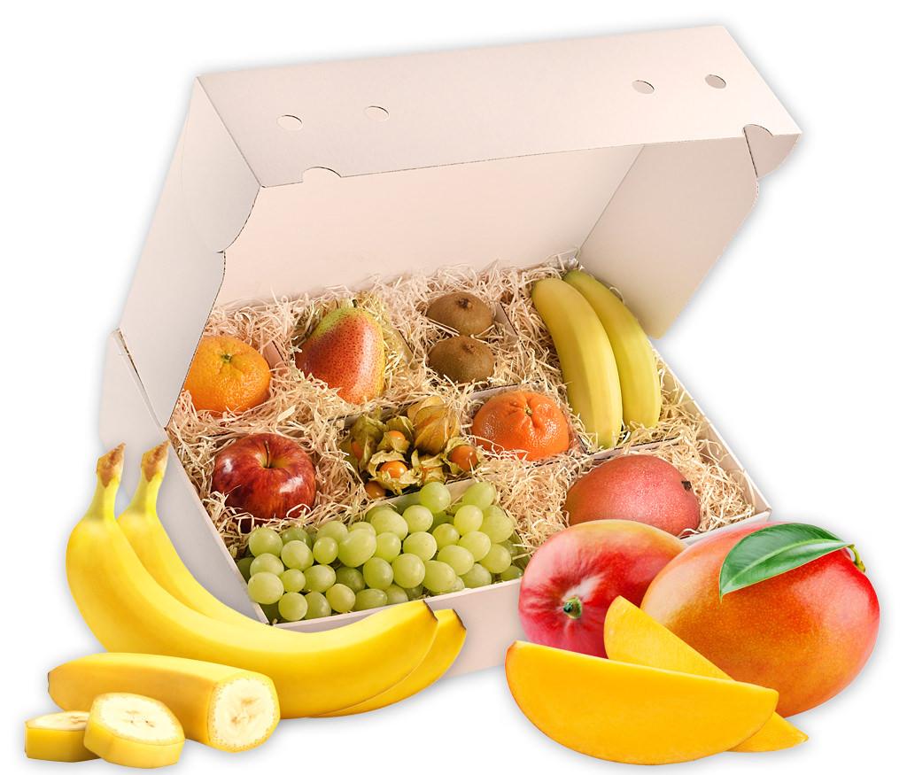 Obstbox Winterromantik, gesunde Früchte in einer liebevoll gepackten Geschenkbox