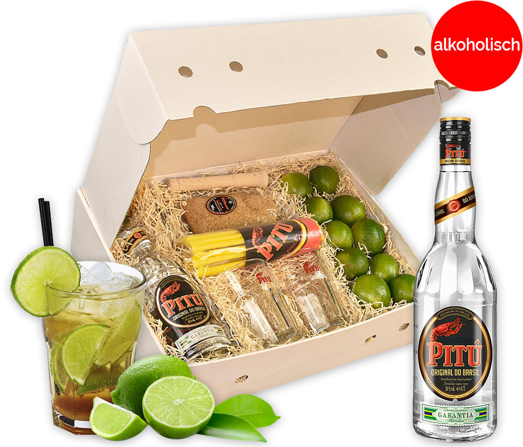Cocktailbox Caipirinha als Starterset mit allen Zutaten und Zubehör für das Highligt auf der nächsten Party