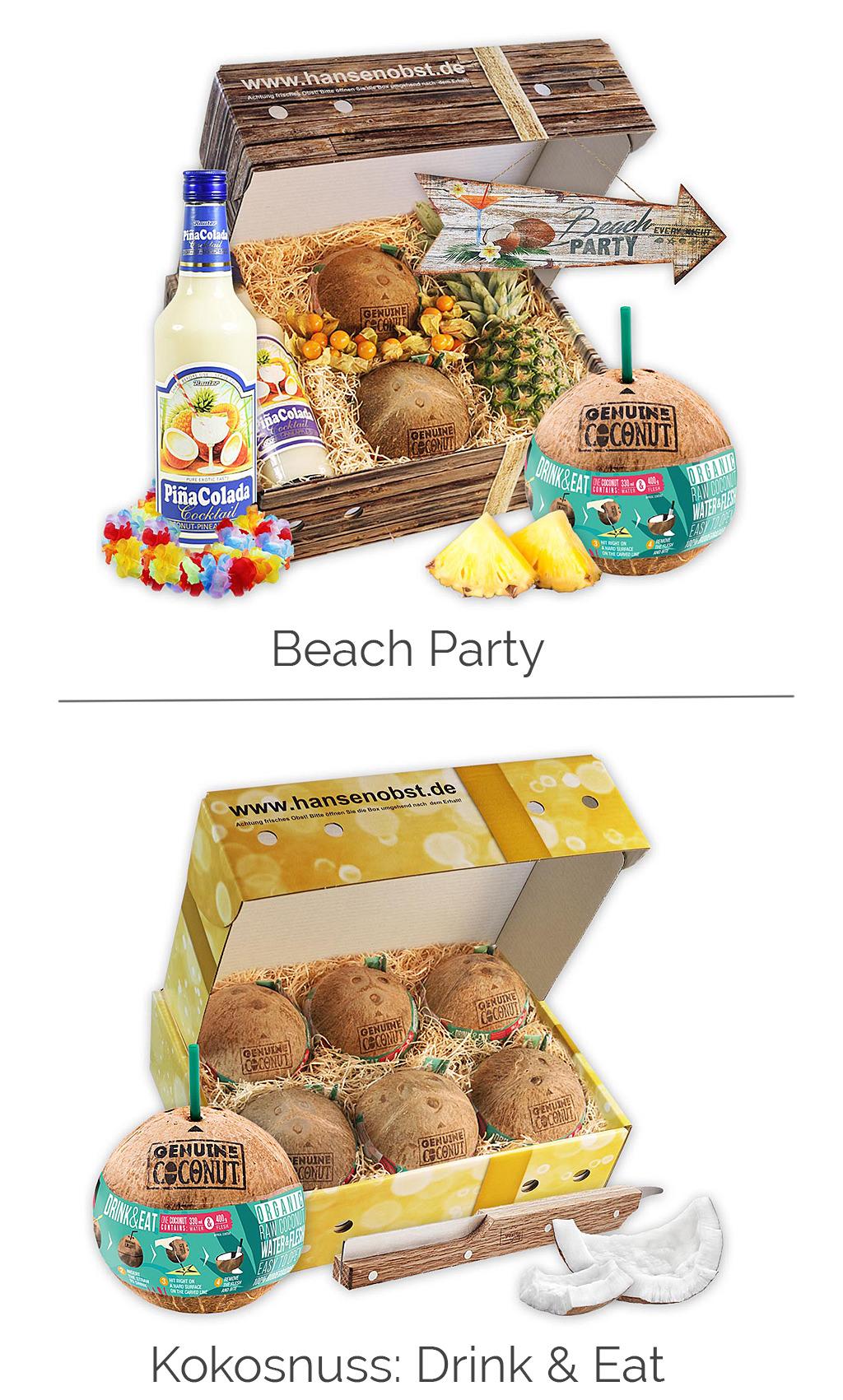 Geschenkboxen für Partys & Feste