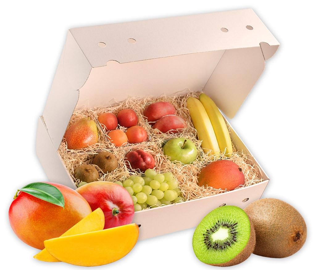 Obstbox Fruchtmix, vitaminreiches Obst aus tropischen und einheimischen Regionen