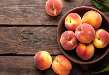 Iss einen Pfirsich Tag