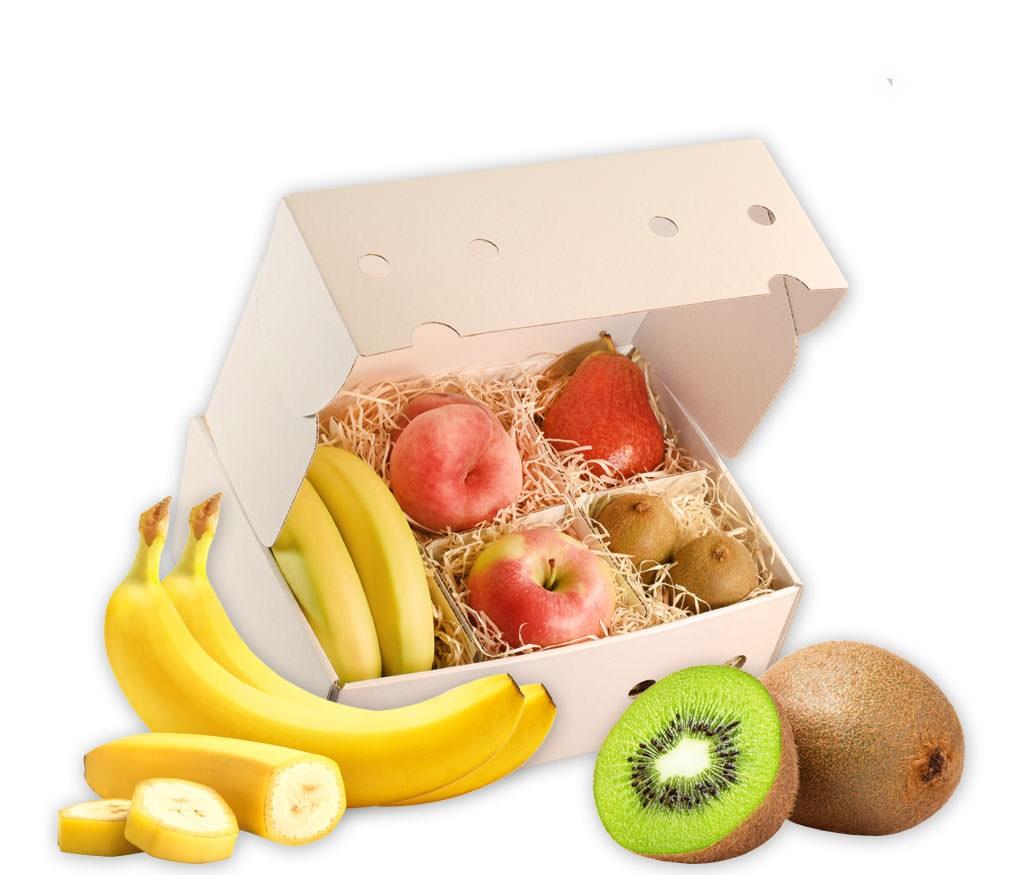Obstbox Sommer-Vitamine, gesunde und vitaminreiche Früchte in einer Geschenkbox