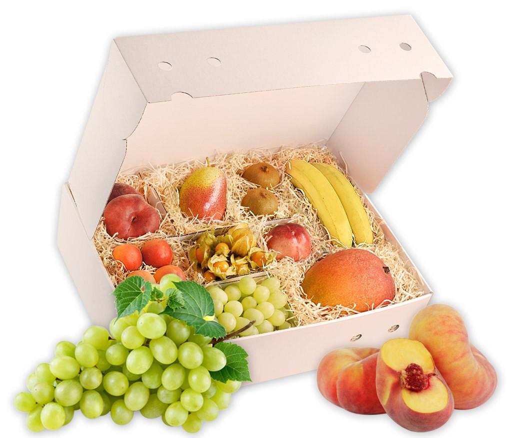 Obstbox Sommertraum, knackige Früchte in einer dekorativen Geschenkbox