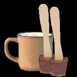 Tasse (300ml) und 2x Schokoladenlöffel (à 36g)
