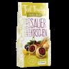 Feel Fruity - Sauerkirschen in Zartbitter- und weißer Schokolade (90g)