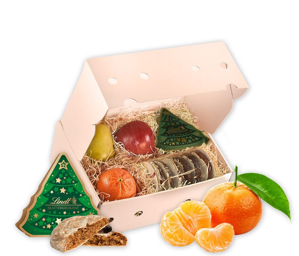 Obstbox Kleiner Winterzauber mit vitaminreichem Obst und feinsten Nürnberger Lebkuchen