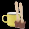 Tasse (gelb) und 2x Schokoladenlöffel