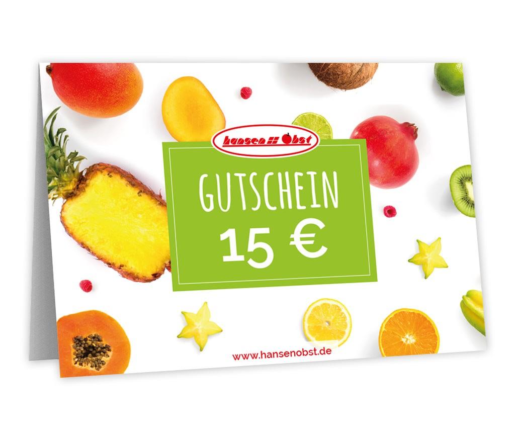 Gutschein über 15 EUR für vitaminreiche Freude und fast jeden Anlass