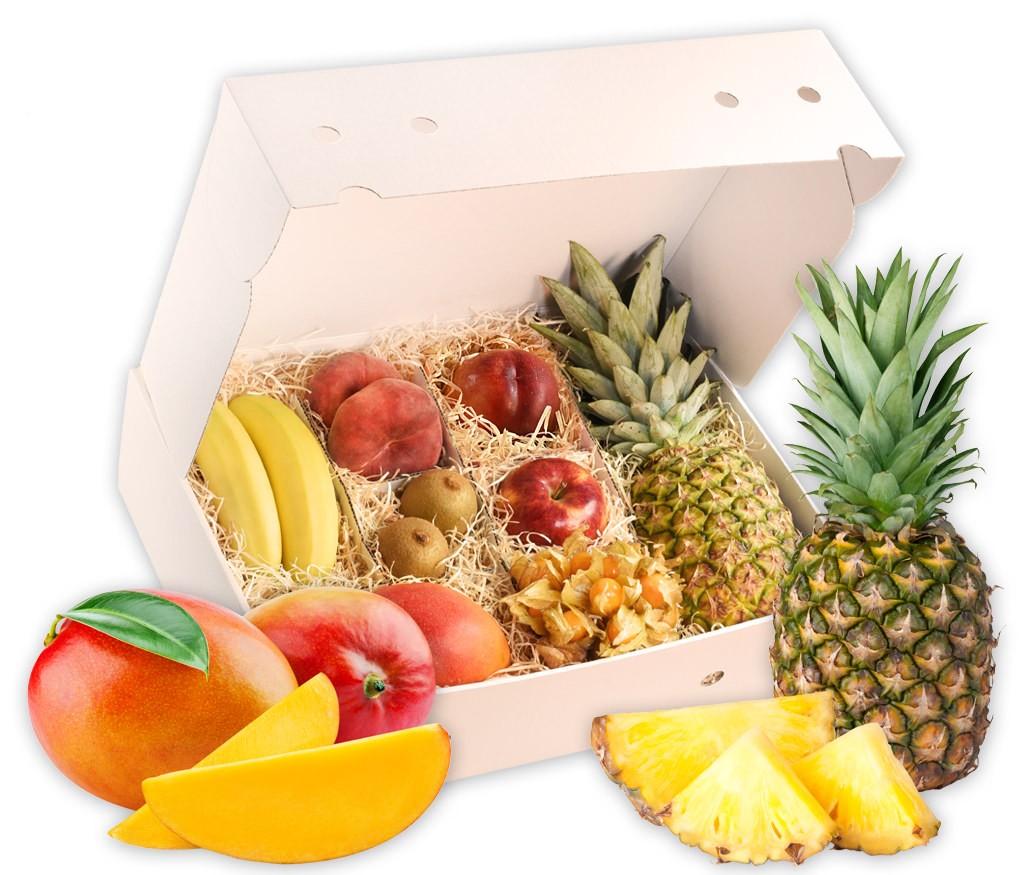 Obstbox Happy-Summer, frische Früchte für den Sommer als Geschenk verpackt
