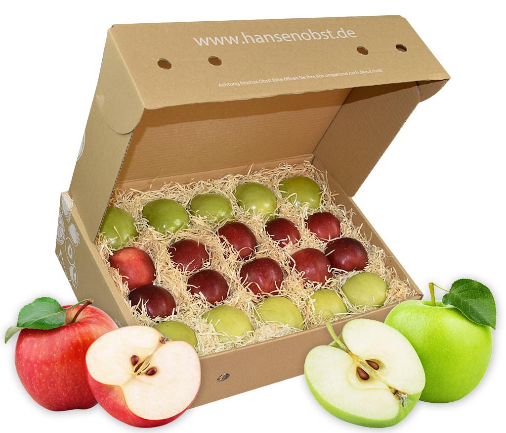 Business-Apfel-Obstbox für die gesunde Pause zwischendurch mit viel frischem Obst für den Arbeitsplatz