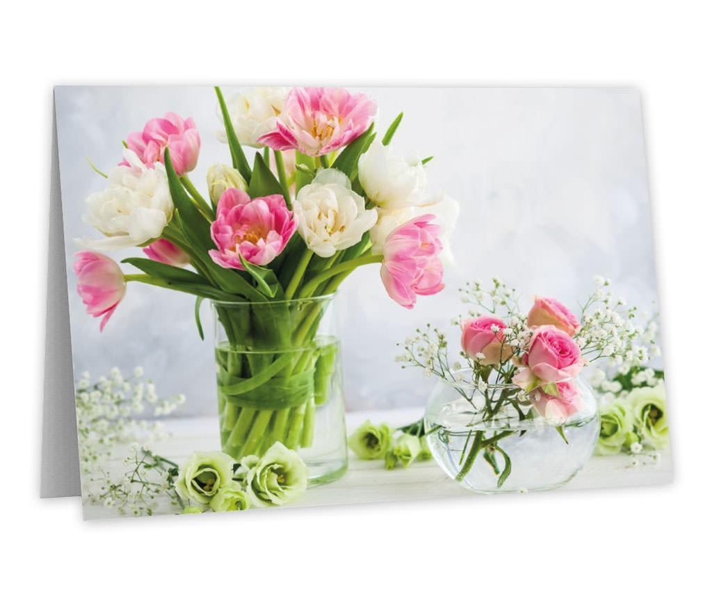 Grußkarte Blumenstrauß für persönliche Worte zu vielen Anlässen