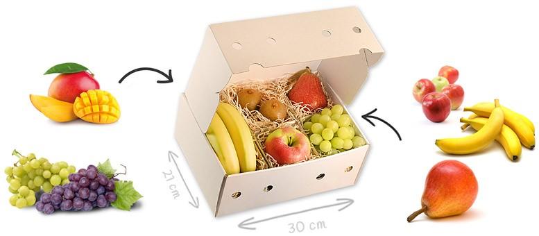 Obstbox mit frei wählbarem Inhalt - maximal 6 frische Früchte