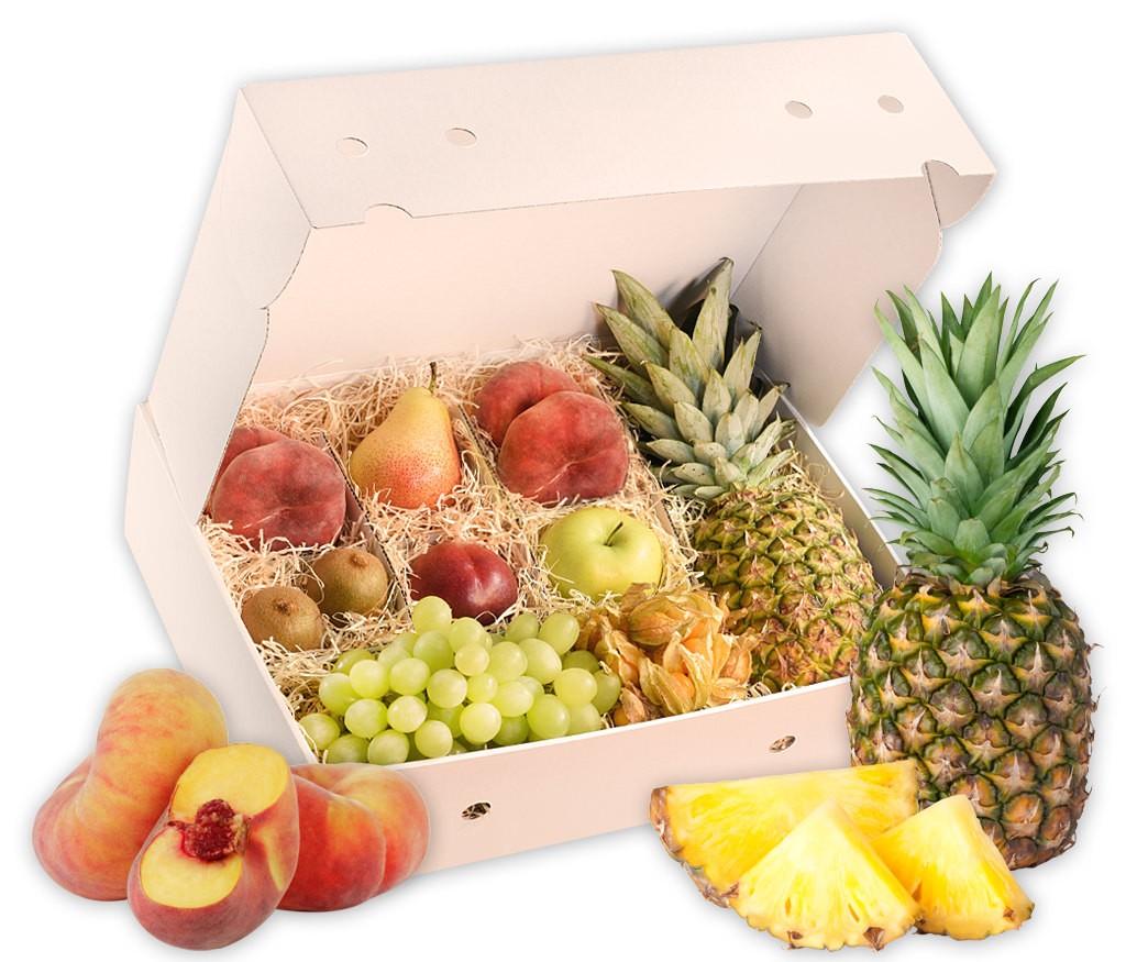 Obstbox Summerfit, frische Früchte liebevoll in einer Geschenkbox verpackt
