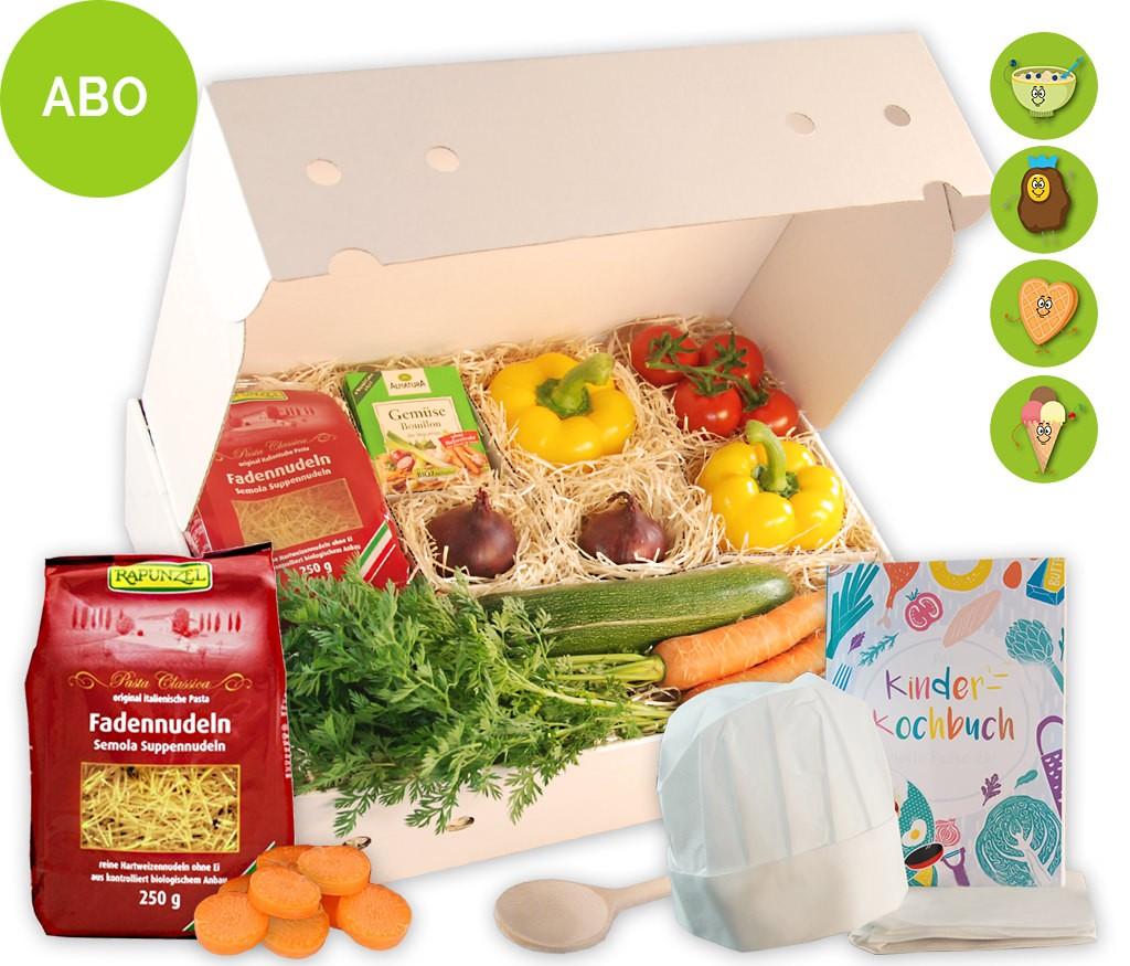 Kinderkochbox Abo für leckere Rezepte mit Kochbuch zum Kochen und Backen