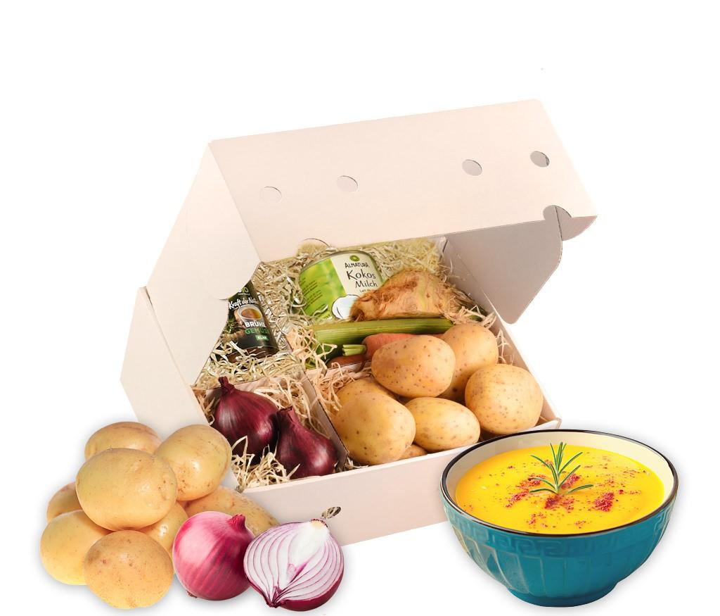 Rezeptbox Kartoffel-Suppe mit allen Zutaten für eine leckere Suppe inklusive Rezept