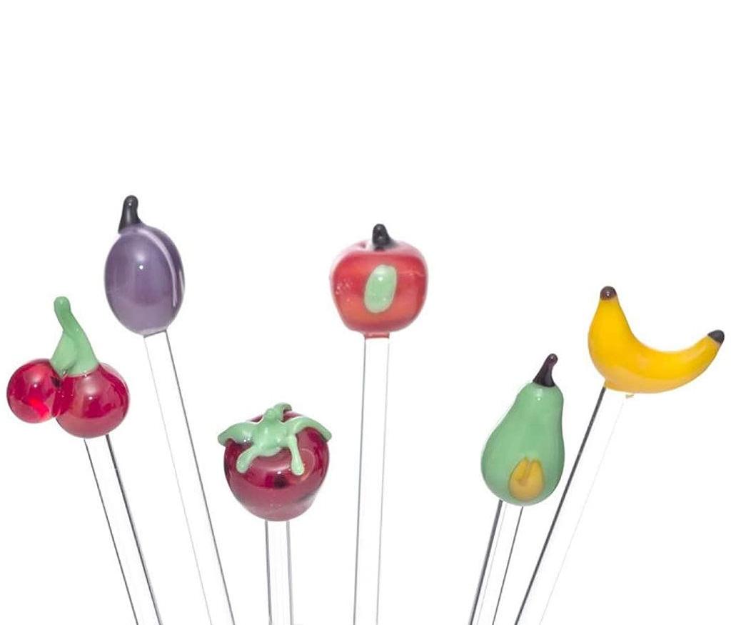 hangearbeitete Frucht-Bowlespießer aus Lauschaer Glas