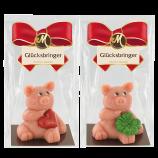 Edel-Marzipan-Schwein: Glücksbringer (65g)