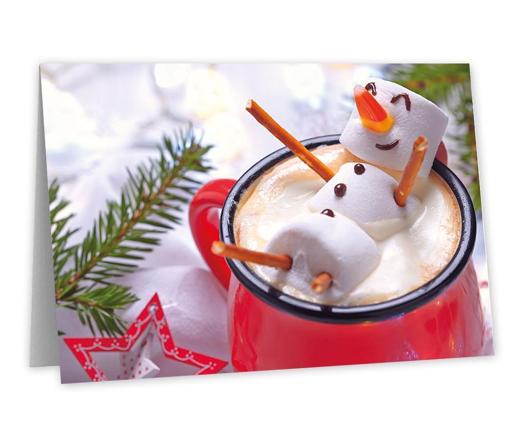 Grußkarte mit den besten Wünschen zur Weihnachtszeit