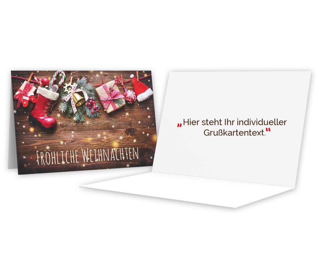 """Grußkarte """"Fröhliche Weihnachten"""""""