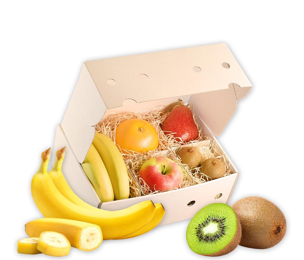 Obstbox Winter-Vitamine, gesunde Früchte in einer Geschenkbox