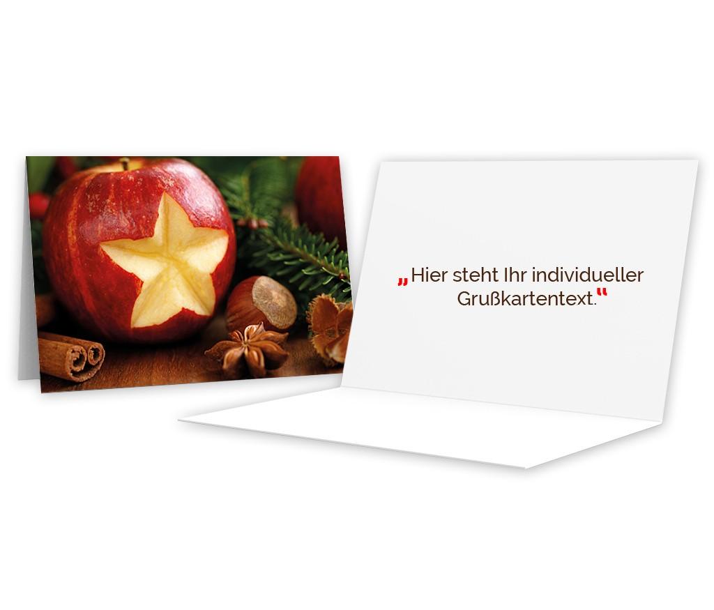 """Grußkarte """"Weihnachtsapfel"""""""