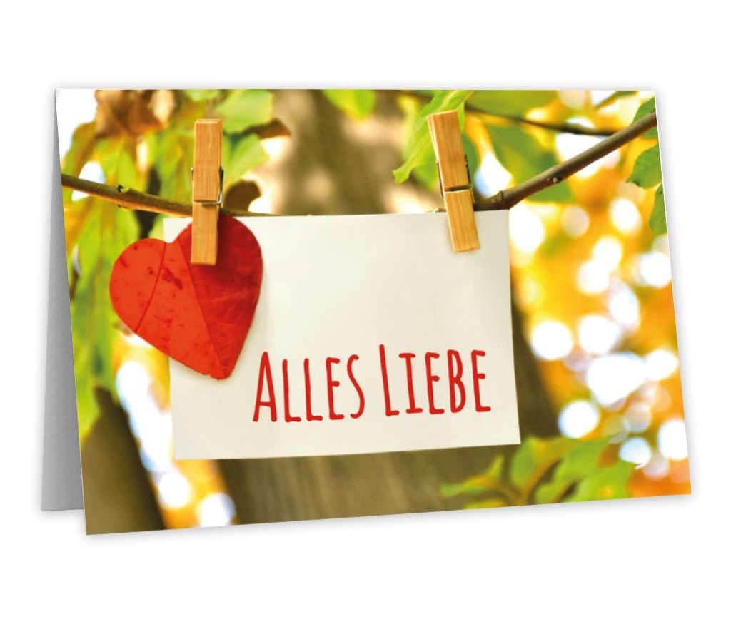 Grußkarte Alles Liebe für persönliche Worte an einen lieben Menschen