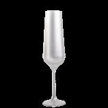 silberfarbenes Glas-Sektglas
