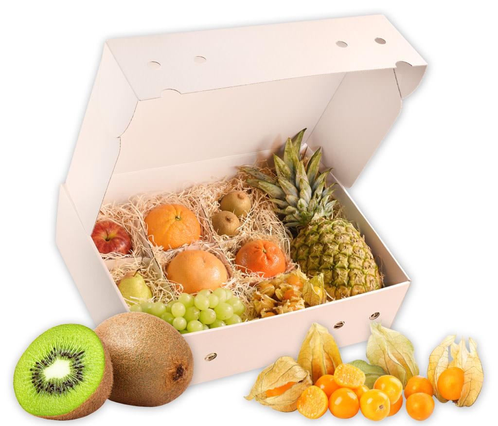 Obstbox Happy-Spring, knackige Frühlings-Früchte  in einer tollen Geschenkbox