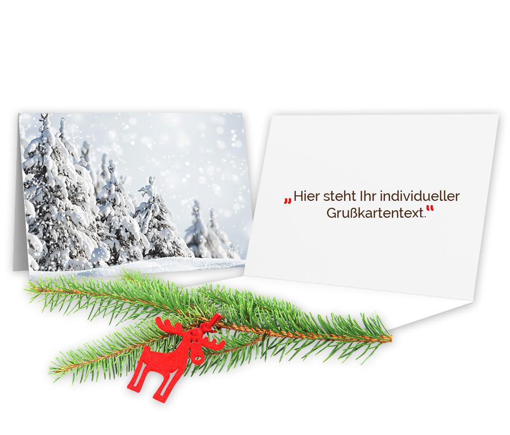 "Grußkarte ""Winterlandschaft"""