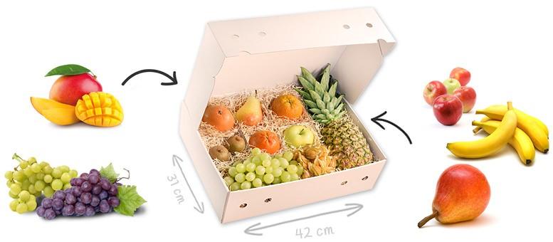 Obstbox mit frei wählbarem Inhalt - maximal 12 frische Früchte