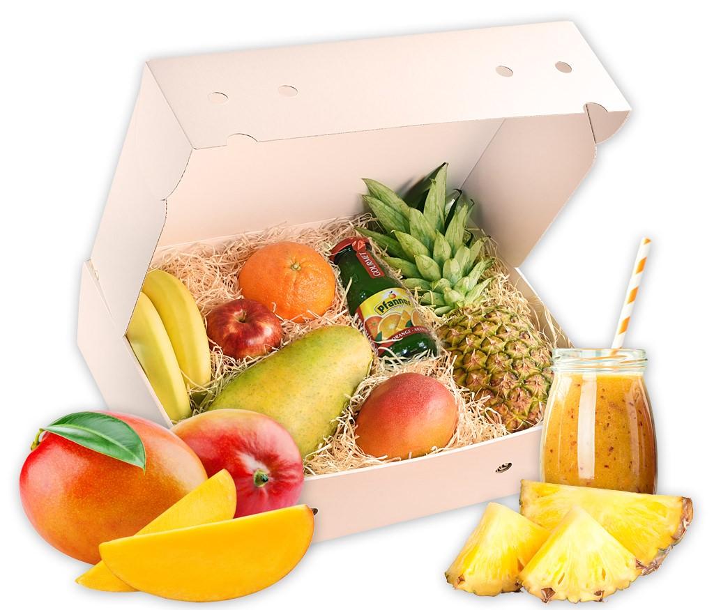 Smoothiebox Exotic-Passion-Sunshine für doppelte Smoothiepower mit verschiedenen exotischen Früchten und Rezepten