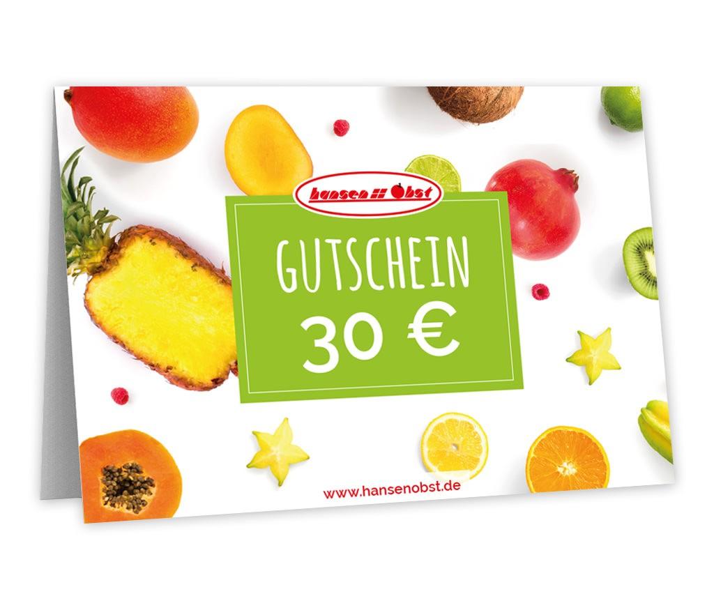 Gutschein über 30 EUR für eine fruchtige Überraschung für fast jeden Anlass