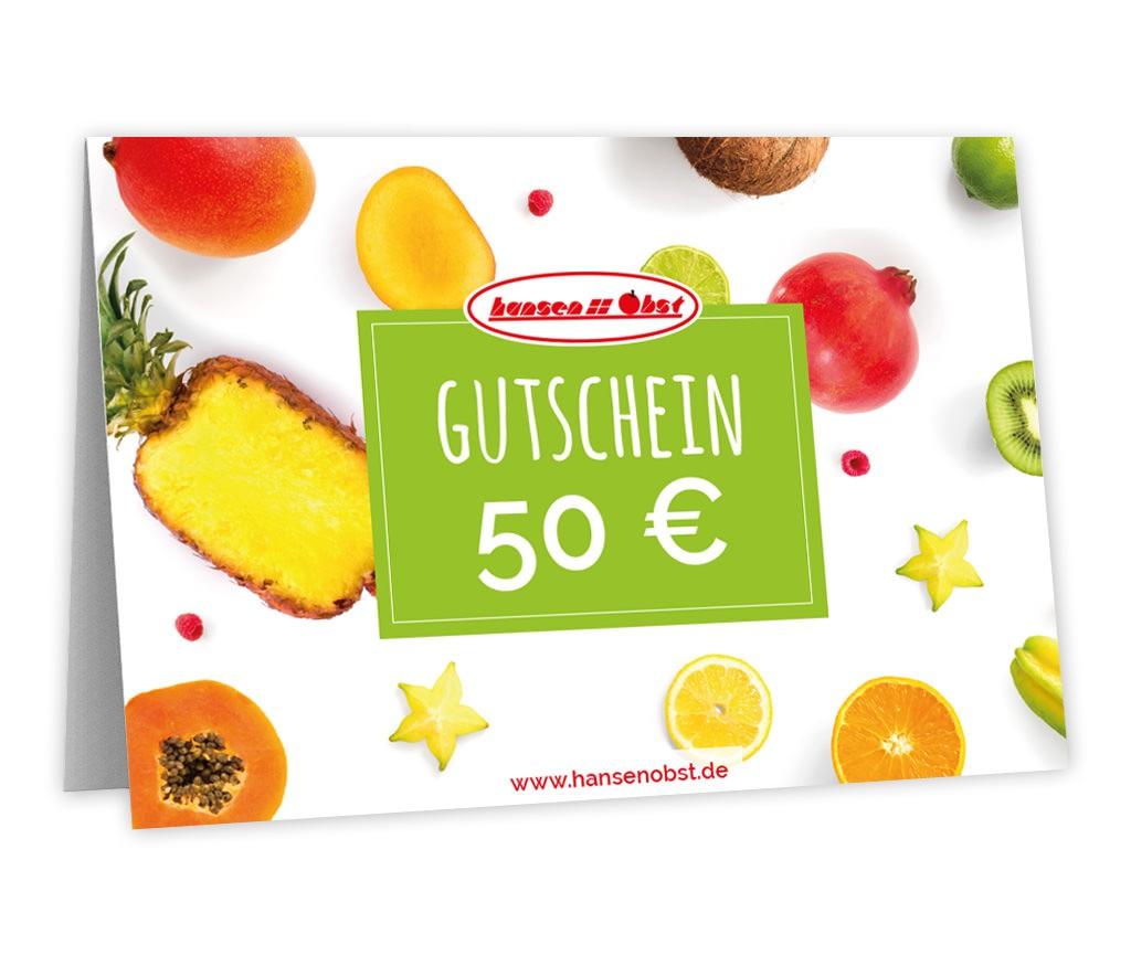 Gutschein über 50 EUR um Gesundheit für fast jeden Anlass zu verschenken
