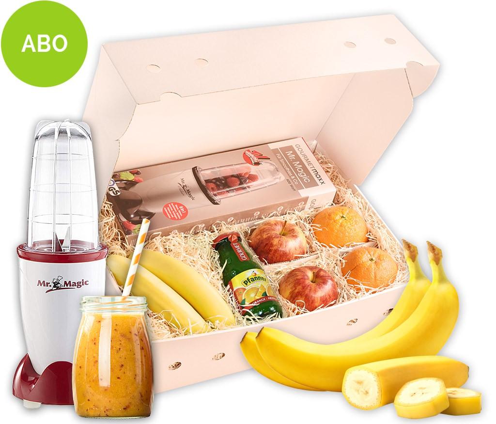 4-Wochen-Smoothie-Abo-Boxen für regelmäßigen Smoothiegenuss mit frischen Früchten und Rezepten