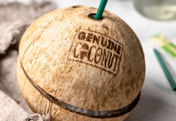 Jetzt gibt's eins auf die Nuss - auf die Kokosnuss